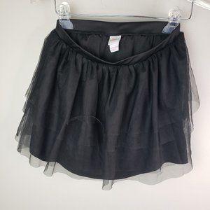 Black Circo Girls XL (14-16) Layered Skirt